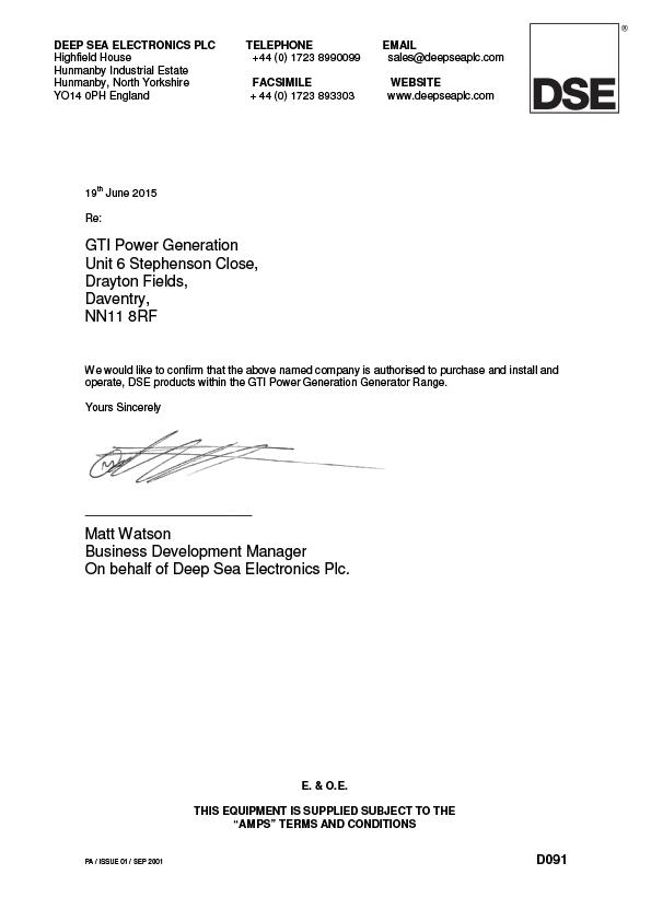 DSE Certificate